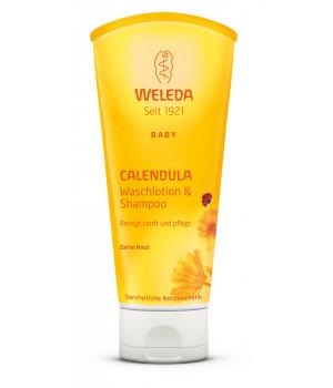 WELEDA - Детский шампунь-гель для волос и тела (календула) 200 мл