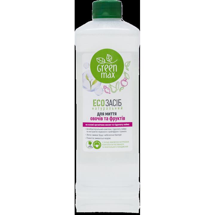 ECOсредство натуральное для мытья овощей и фруктов, 500 мл (Green Max)  (без разпылителя)